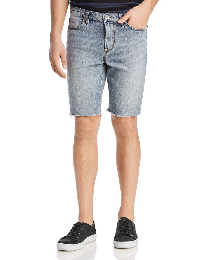 John Varvatos Star USA - Bowery Cut-Off Denim Shorts in Dark Navy