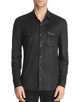 John Varvatos Star USA - Coated Slim Fit Western Shirt ... 358fe6955