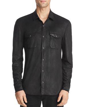 John Varvatos Star Usa Coated Slim Fit Western Shirt