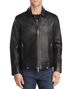 John Varvatos Star USA - Marley Zip-Front Leather Jacket