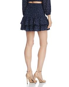 BB DAKOTA - Polka Dot Smocked Mini Skirt