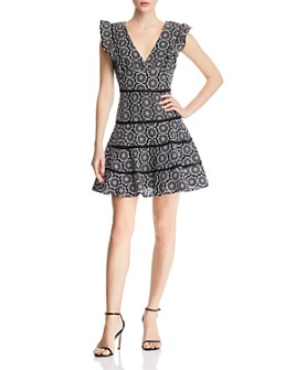 Bardot - Sierra Embroidered Ruffle-Trim Dress - 100% Exclusive