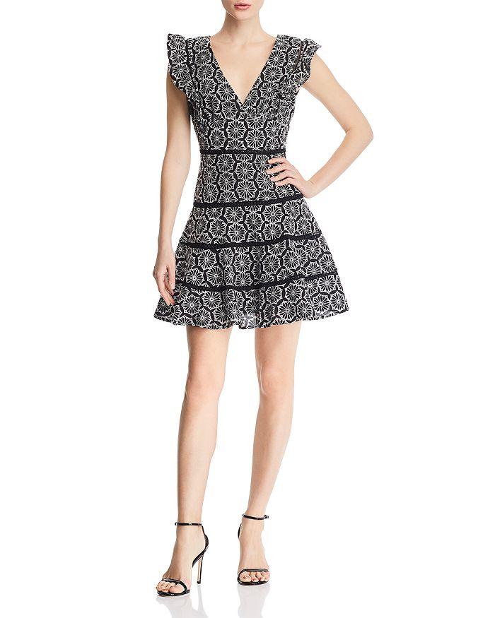 Bardot SIERRA EMBROIDERED RUFFLE-TRIM DRESS - 100% EXCLUSIVE