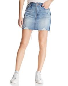 Pistola - Sierra Side-Stripe Distressed Denim Skirt