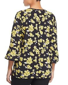 MICHAEL Michael Kors Plus - Floral Print Bell Sleeve Top