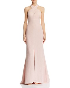 Eliza J - Cross-Neck Textured Gown