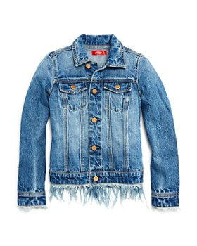 AQUA - Girls' Daze Denim Fringe Jacket, Big Kid - 100% Exclusive