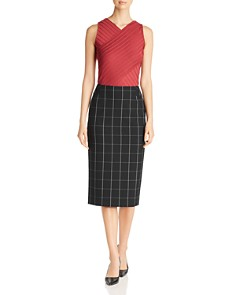 BOSS - Vedani Windowpane Check Skirt
