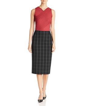 BOSS - Vedani Windowpane Check Skirt