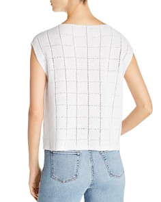 Eileen Fisher - Lightweight Grid Pointelle Sweater