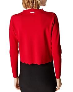 KAREN MILLEN - Scalloped Cropped Sweater