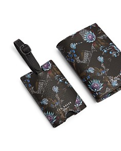 Ted Baker - Minster Leather Passport Holder & Luggage Tag Set