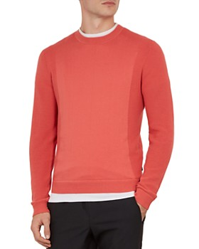 Ted Baker - Trull Textured-Sleeve Crewneck Sweater