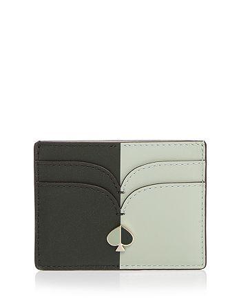 kate spade new york - Color-Block Leather Card Holder