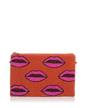 From St Xavier - Medium Lips Beaded Clutch