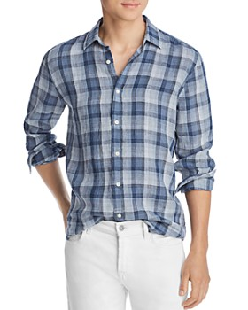 The Men's Store at Bloomingdale's - Plaid Linen Classic Fit Shirt - 100% Exclusive