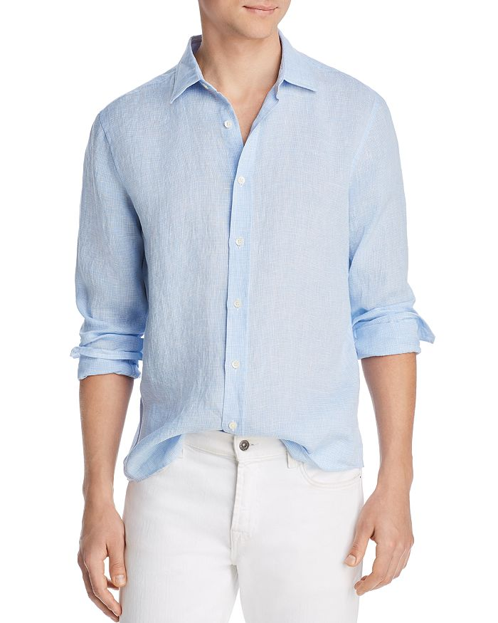 The Men's Store at Bloomingdale's - Bi-Color Linen Classic Fit Shirt - 100% Exclusive