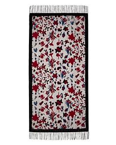AQUA - Floral Velvet Burnout Wrap - 100% Exclusive