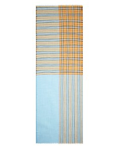 Burberry - Color-Block Vintage Check Gauze Scarf