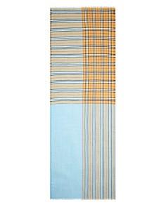 Burberry - Color-Block Vintage Check Gauze Scarf