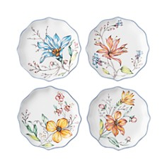 Juliska - Floretta Tidbit Plates, Set of 4