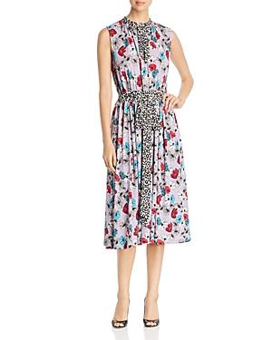 Leota Dresses MINDY MIXED-PRINT DRESS