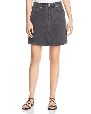 French Connection Pepper Denim Mini Skirt in Black
