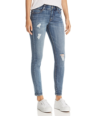 Jag Jeans CECELIA SKINNY DISTRESSED JEANS IN ISLAND BLUE