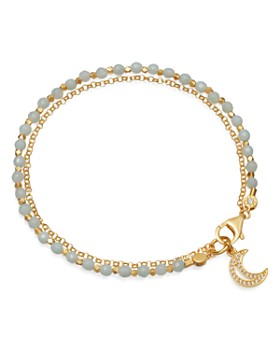 Astley Clarke - Amazonite Moon Biography Bracelet in 18K Gold-Plated Sterling Silver