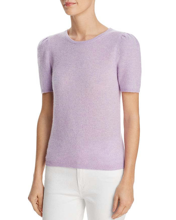 C by Bloomingdale's - Puff-Sleeve Cashmere Sweater - 100% Exclusive