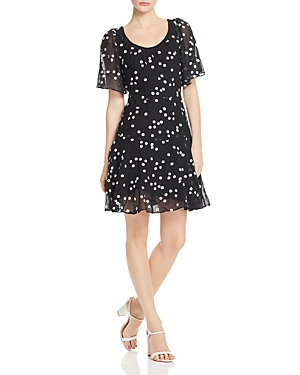 Rebecca Taylor  ALESSANDRA FLORAL-EMBROIDERED DRESS