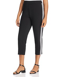 Eileen Fisher Plus - Slim Track Stripe Pants