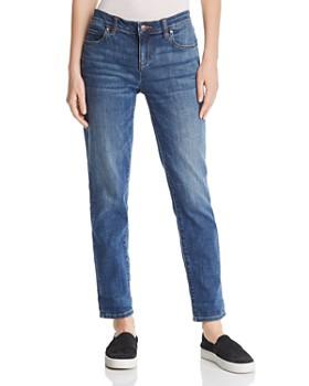 Eileen Fisher - Cropped Boyfriend Jeans in Aged Indigo, Regular & Petite