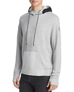 Michael Kors - Mixed-Media Hooded Funnel-Neck Sweatshirt
