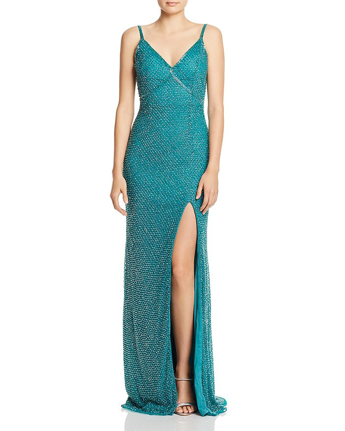 d1e4ebcfda Mac Duggal Beaded Fishtail Gown | Bloomingdale's