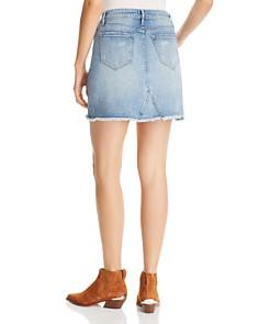 AQUA - Distressed Denim Skirt - 100% Exclusive