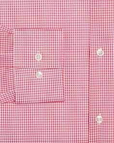 BOSS - Mini-Checked Slim Fit Dress Shirt
