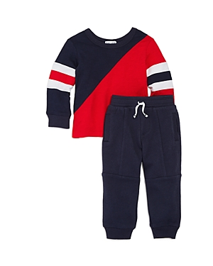 Splendid Boys Asymmetric ColorBlock Sweatshirt  Jogger Pants Set  Baby