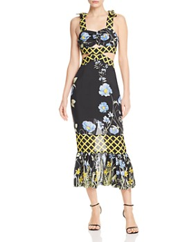 Alice McCall - Flower Girl Cutout Midi Dress