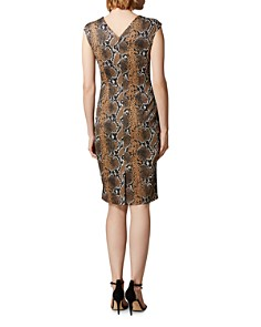 KAREN MILLEN - Snake Print Sheath Dress