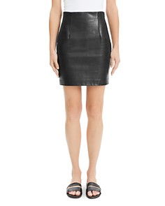 Theory - Leather Mini Skirt