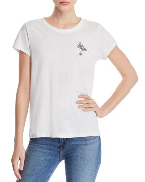 rag & bone/Jean Embroidered Flower Cluster Tee