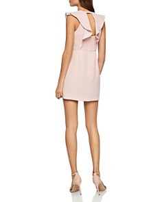BCBGENERATION - Ruffled Cutout Sheath Dress