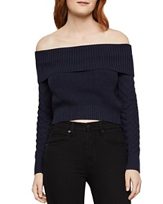 BCBGeneration - Off-the-Shoulder Cropped Sweater