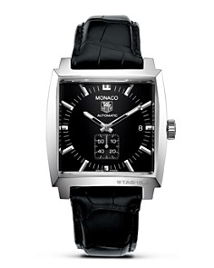 """TAG Heuer """"Monaco"""" Square Watch with Alligator Strap, 37mm - Bloomingdale's_0"""