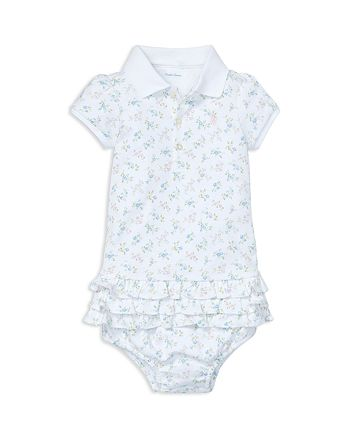 bee7bc09 Ralph Lauren Girls' Ruffled Polo Dress & Bloomers Set - Baby ...