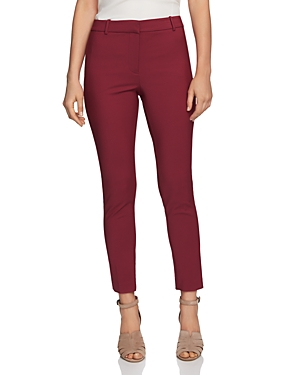 1.state Pants DOUBLE-WEAVE SLIM-LEG PANTS