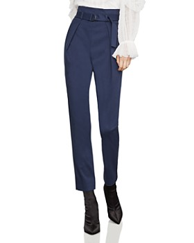 a03946dd3c0e BCBGMAXAZRIA - Belted Pleated Ankle Pants ...