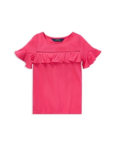 Ralph Lauren - Girls' Ruffled Tee - Little Kid