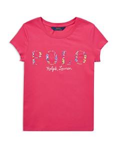 Ralph Lauren - Girls' Floral-Polo Logo Tee - Big Kid